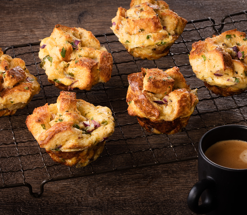 Savoury French Toast Muffins